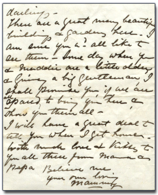 Lettre d'Anne Brown à Catherine « Oda » Brown,