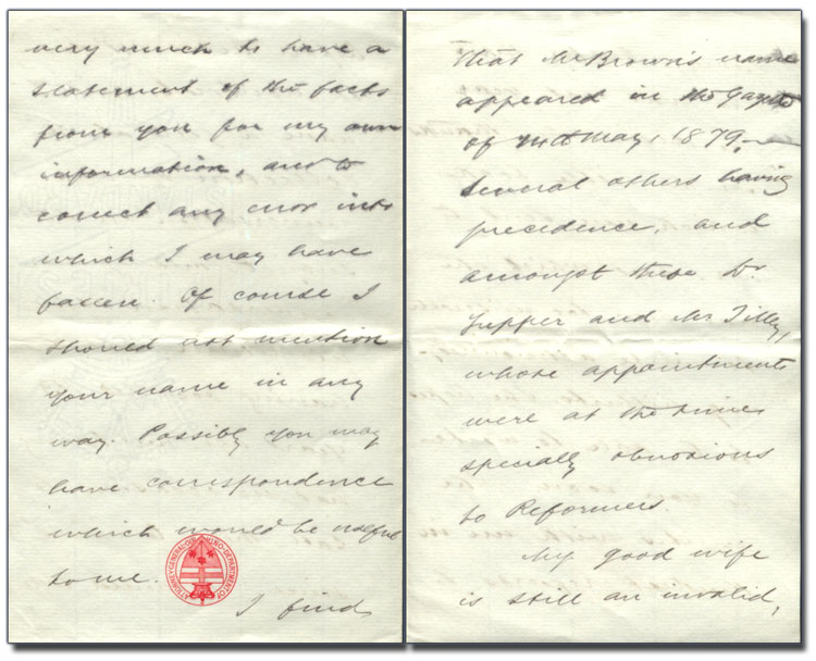 Letter from Hon. Oliver Mowat to Anne Brown, 15 June 1892