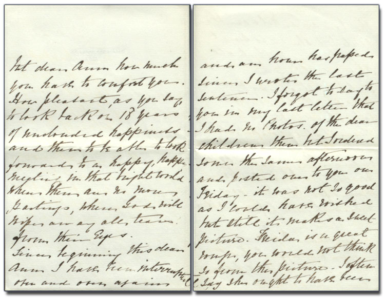 Letter from C.J. Nelson (Anne's sister) to Anne Brown, 21 December 1880