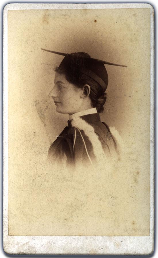 Margaret Brown, Commencement photograph, ca. 1885
