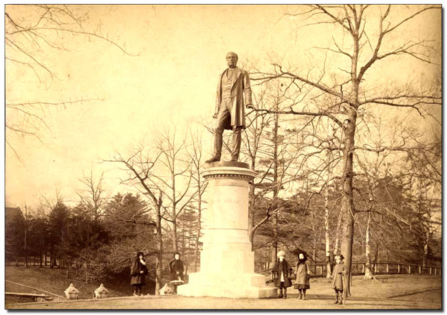 Statue of George Brown, Queen's Park, ca. 1884