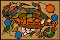 Painting Life Regenerating by Norval Morrisseau, 623855