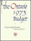 1973 Budget documents