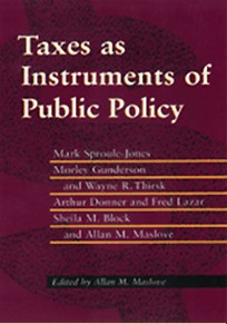Taxes as Instruments of Public Policy