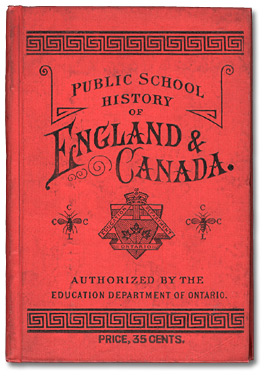 Photograph of the book, Public School History of England & Canada
