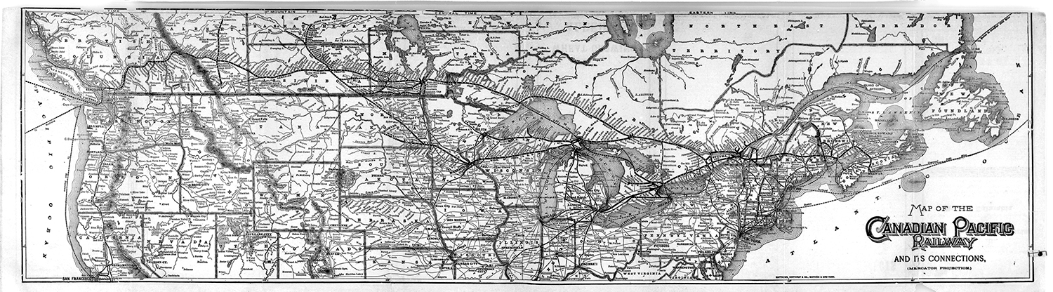 Map of the Canadian Pacific Railway and its connections
