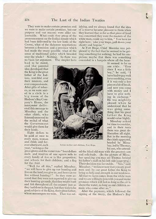 Duncan Campbell Scott, « The Last of the Indian Treaties », Scribner's Magazine (novembre 1906), page 578