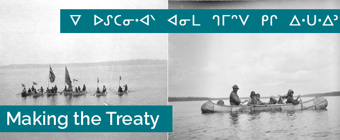 Making the Treaty banner