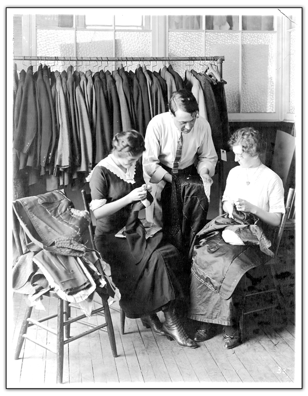 Eaton's manufacturing-tailoring and sewing department, making Eaton Brand Clothing