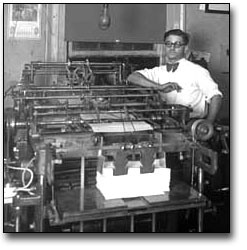 Photo: ewspaper office or printing firm, 1929