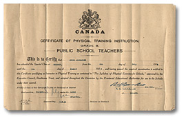 Certificate of Physical Training Instruction, 1918