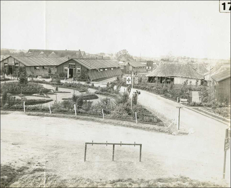 View of the C.C.S [Casualty Clearing Station] from across the road, [ca. 1916-1918]