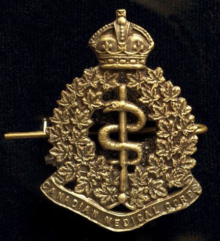Cap Badge, Canadian Army Medical Corps, Canadian Expeditionary Force (CEF)