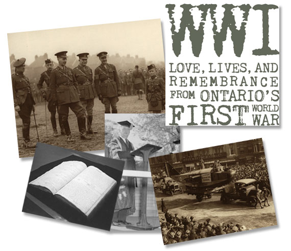 collarge of pictures from first world war