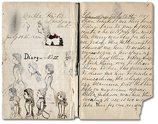 Scan of diary pages