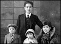 Old photograph of a Chinese family