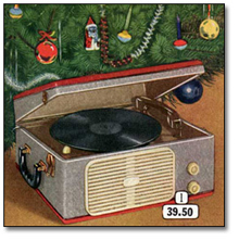 Catalogue picture of old portable record player