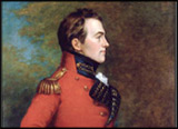 Detail of an oil painting of Major General, Sir Isaac Brock